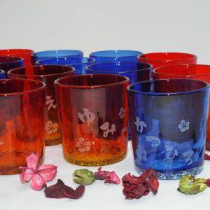 引き出物名入り琉球グラス