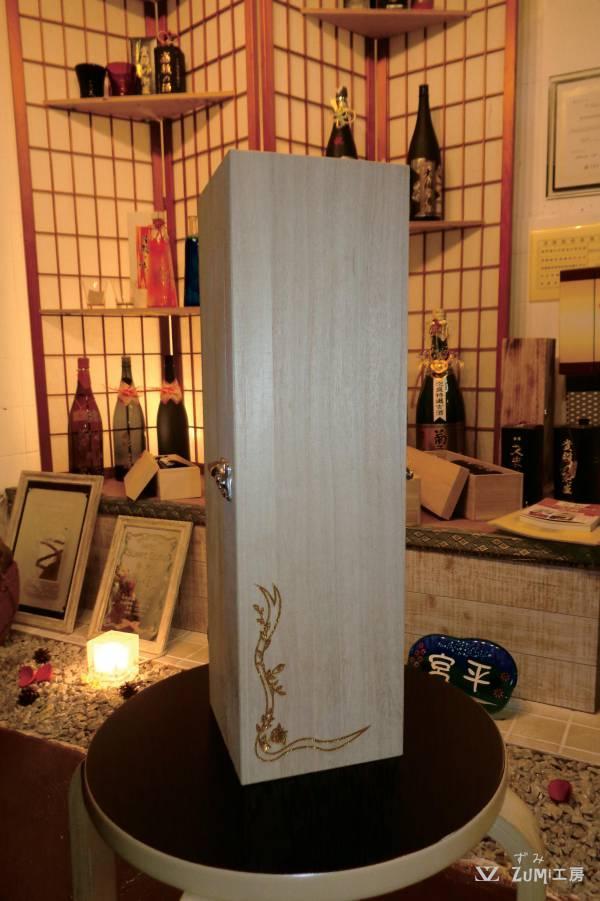 一升瓶の木箱
